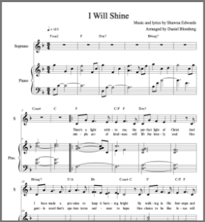 I Will Shine (Vocal-Piano with simple alto)