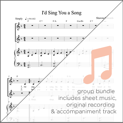 I'd Sing You a Song - Group Bundle