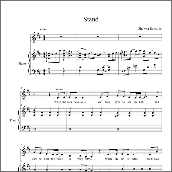 Stand (Vocal Solo - with simple alto part)