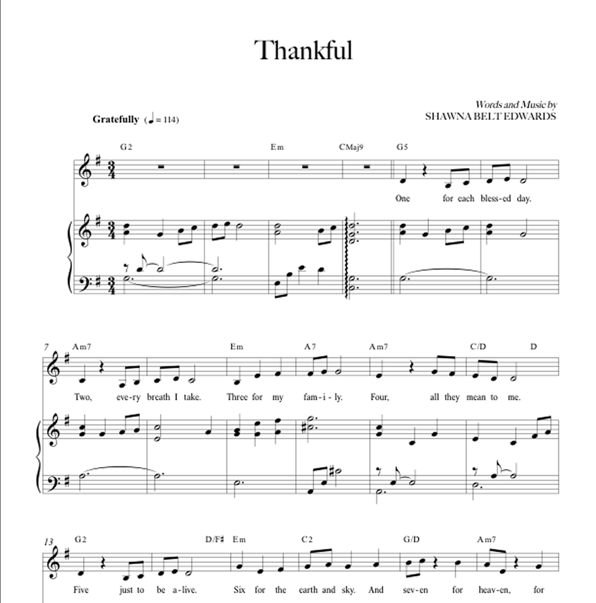 Thankful (Vocal Solo with simple alto)
