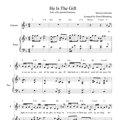 He is the Gift (Solo w/ Optional Harmony)