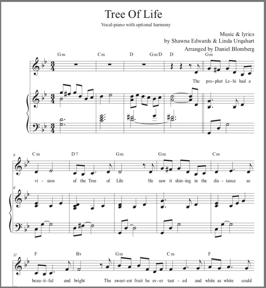 Tree of Life (vocal solo with optional harmony)