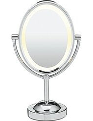 Conair Oval Double-Sided Lighted Makeup Mirror- Polished Chrome Finish