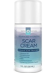 InstaNatural Scar Cream - Best Removal Treatment for Old & New Scars - With 15% Sea Kelp Bioferment- Almond Oil- Epidermal Growth Factor- Niacinamide- MSM & Vitamin E - Skin Hydrating Formula - 1 OZ