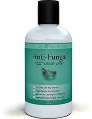 Antifungal Soap with Tea Tree Oil- Helps Treat & Wash Away Athletes Foot- Ringworm- Nail Fungus- Jock Itch- Body Odor & Acne. Antibacterial Defense Against Common Fungal and Bacteria Related Skin Irritations 9oz.