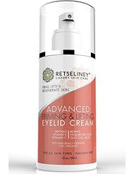 Retseliney Firming & Lifting Eyelid Cream- Firm and Tone Sagging and Drooping Skin on the Upper Eyelids- Anti-Wrinkle Moisturizer with Retinol- Peptides & Vitamin C- Anti-Aging Eye Cream for Daily Use
