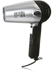 Andis 1875-Watt Fold-N-Go Ionic Hair Dryer - Silver/Black (80020)