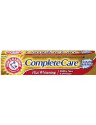 Arm & Hammer Complete Care Stain Defense Fluoride Anticavity Toothpaste- 6 Oz (Pack of 6)