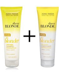 John Frieda Sheer Blonde Go Blonder Lightening Shampoo and Conditioner- 8.45 Fluid Ounce