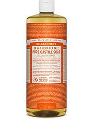 Dr. Bronners Fair Trade & Organic Castile Liquid Soap - (Tea Tree- 32 oz)
