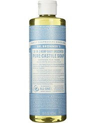Dr. Bronners Fair Trade & Organic Castile Liquid Soap - (Unscented- 16 oz)