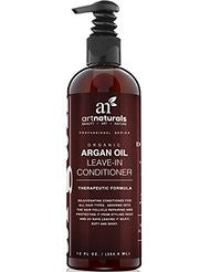 Art Naturals Argan Oil Leave in Conditioner / Moisturizer 12 oz | Best Treatment for Dry- Damaged & Colored Hair | Deep Conditioning Repair Cream Leaving Hair Sleek & Shiny For All Hair Types