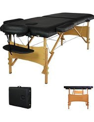 Black Portable Massage Table-the most fully featured and economical massage table package available anywhere-ideal for p
