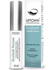 Eyelash Growth Serum for Long Eyelashes From Uptown Cosmeceuticals Contains Stem Cell & Myristoyl Pentapeptide-17- Dermatologist Lab Tested Lash & Eyebrow Growth Formula- 4 Months Supply- 3.5ml