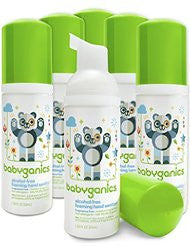 Babyganics Alcohol-Free Foaming Hand Sanitizer- Fragrance Free- On-The-Go- 50 ml (1.69-Ounce)- Pump Bottle (Pack of 6)