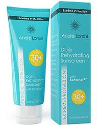 Daily Rehydrating Sunscreen: SPF 30+ - Contains Vitamins A- B- C & E & Seaweed Extract - Rehydrating Skin Protection - Paraben & Fragarance Free - Broad Spectrum UVA / UVB Protection