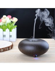 BlueFire® Electric Ultrasonic Humidifier Aroma Diffuser Essential Oils Diffuser Humidifier with Cool Mist - Ultrasonic- Aromatherapy (Dark Wood)