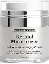 Retinol Cream Moisturizer for Face with active retinol- hyaluronic acid- jojoba oil- shea butter and green tea. Best night and day moisturizing cream 1.7 fl. oz.