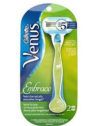 Embrace Womens Razor 1 Razor Handle and 2 Razor Blade Refills