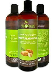 Best Sweet Almond Oil by Sky Organics 16oz- 100% Pure- Cold-Pressed- Organic Almond Oil. Great As a Baby Oil- Works Wonder On Wrinkles- Anti-Aging. #1 Rated Almond Oil- Carrier Oil for Massage