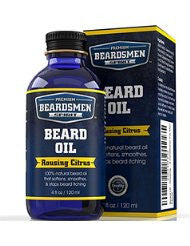 Beard Oil - Rousing Citrus Scent - Huge Man-Sized 4 oz Bottle - 100% Natural - Softens Your Beard and Stops Itching - Scent Women Love - Best Beard Oil And Conditioner For Men