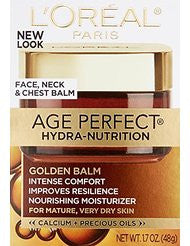 LOreal Paris Age Perfect Hydra-Nutrition Golden Balm Face- Neck & Chest- 1.7 Fluid Ounce (Packaging May Vary)