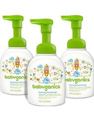 Babyganics Foaming Hand Soap- Fragrance Free- 8.45oz Pump Bottle (Pack of 3)