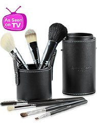 Best Professional Makeup Brushes Set for Eye and Face- Includes FREE Leather Brush Holder- Recommended by Michelle Money- Great for Travel- High Quality Natural Real Hair Kit for Flawless Results.