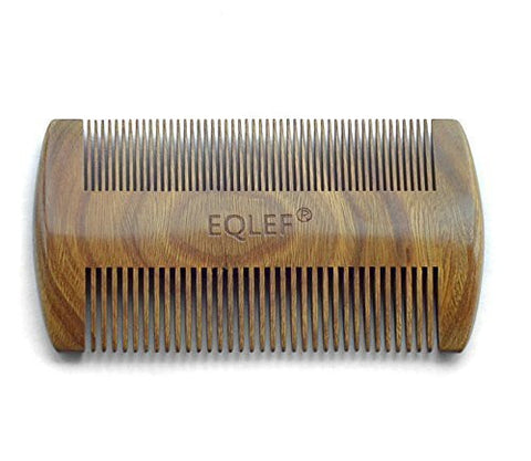 EQLEF® Green sandalwood no static handmade comb