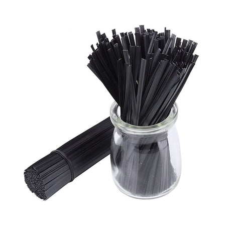 "500pcs 5"" Plastic Black Twist Ties"