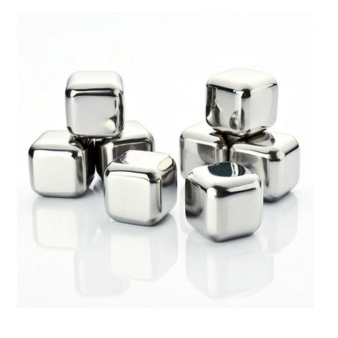 Amerzam Set of 8 Stainless Steel Whiskey Stones