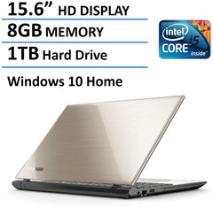 Toshiba Satellite L55 15.6-Inch Laptop (Intel Core i5-5200U Processor, 8GB Memory, 1TB Hard Drive, DVD SuperMulti Drive, Windows 10, Satin Gold)