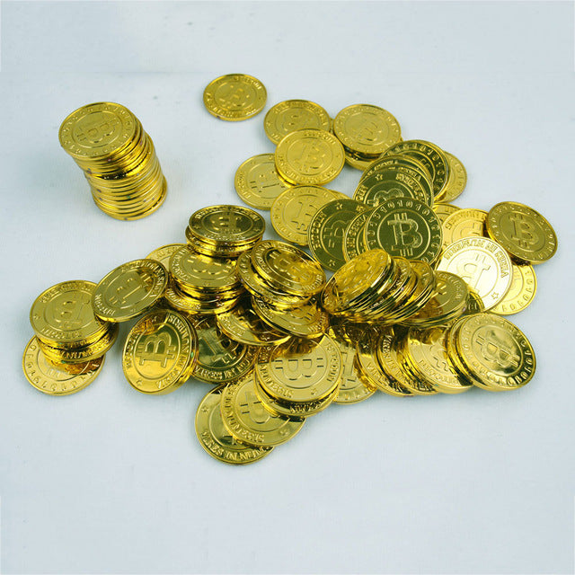 50x Gold Plated Novelty Coins