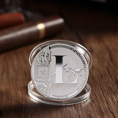 Silver/Gold Plated Novelty Bitcoin or Litecoin Coins