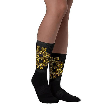 Cotton Bitcoin Dollar Sign Dress Socks