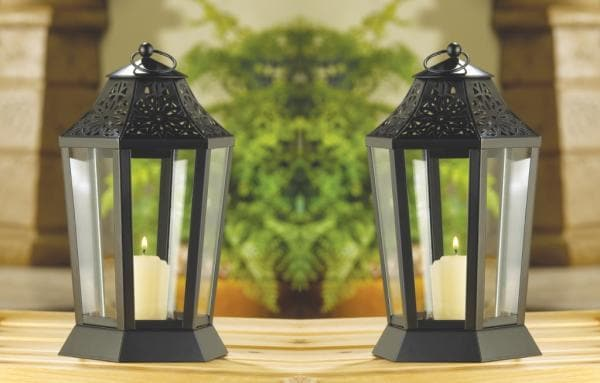 Set of 2 Midnight Garden Candle Lamps - The House of Awareness