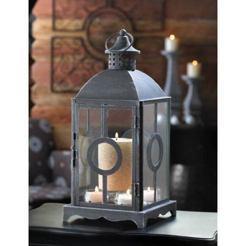 Set of 2 Charming Antique Distressed Grey Lanterns - The House of Awareness