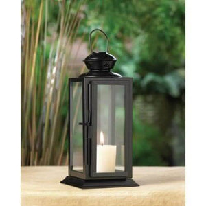 Black Colonial Rectangle Lantern - The House of Awareness