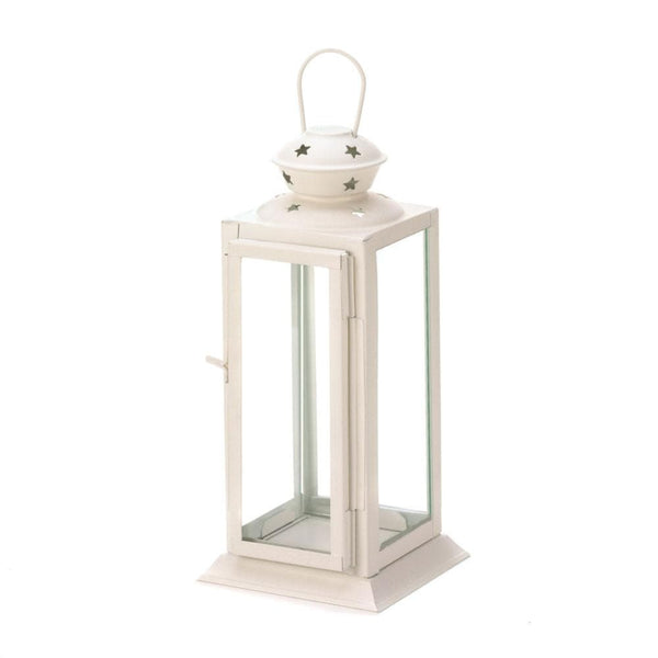 White Colonial Rectangle Lantern , Candle Lanterns - Gallery Of Lights, The House of Awareness  - 2
