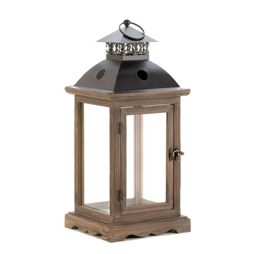 Large Rustic Wood Lantern - The House of Awareness