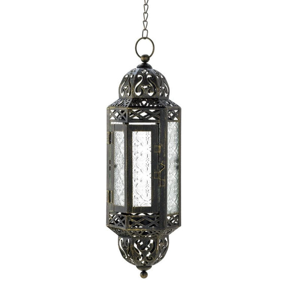 Intricate Hanging Moroccan Lantern - The House of Awareness