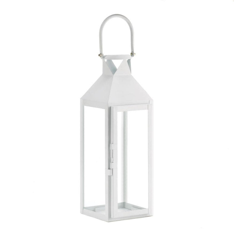 White Manhatten Candle Lantern - The House of Awareness