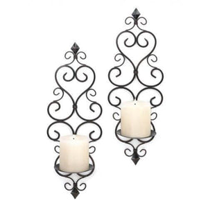 Fleur De Lis Candle Wall Sconces , More Candleholders - Home Locomotion, The House of Awareness  - 2