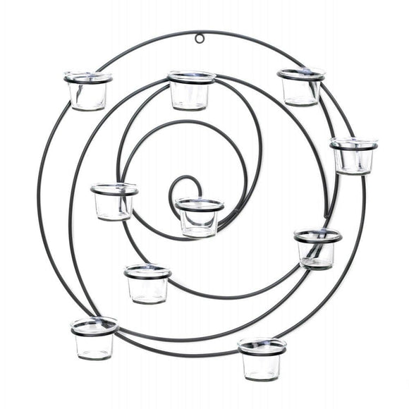 Circular Metal Wall Tealight Candleholder , Tealight Candleholders - Gallery Of Light, The House of Awareness  - 1