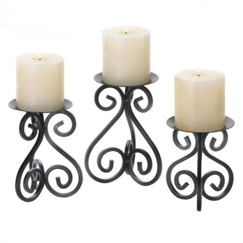 Black Iron Candleholders Set , More Candleholders - Home Locomotion, The House of Awareness  - 3