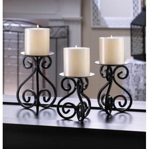 Black Iron Candleholders Set , More Candleholders - Home Locomotion, The House of Awareness  - 1