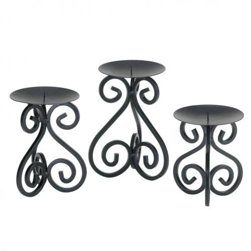 Black Iron Candleholders Set , More Candleholders - Home Locomotion, The House of Awareness  - 2