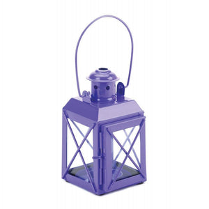 One Green and One Purple Trolley Candle Lantern - The House of Awareness