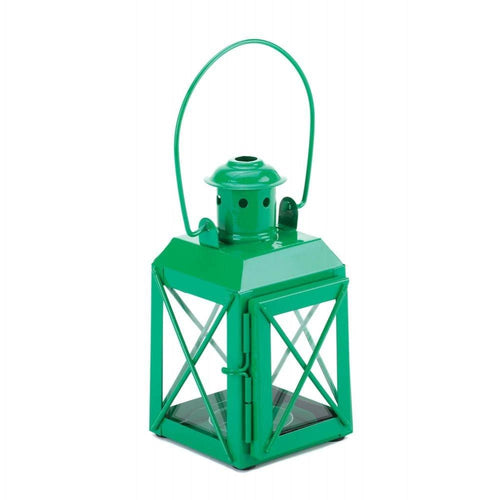 Set of 2 Green Trolley Candle Lanterns - The House of Awareness