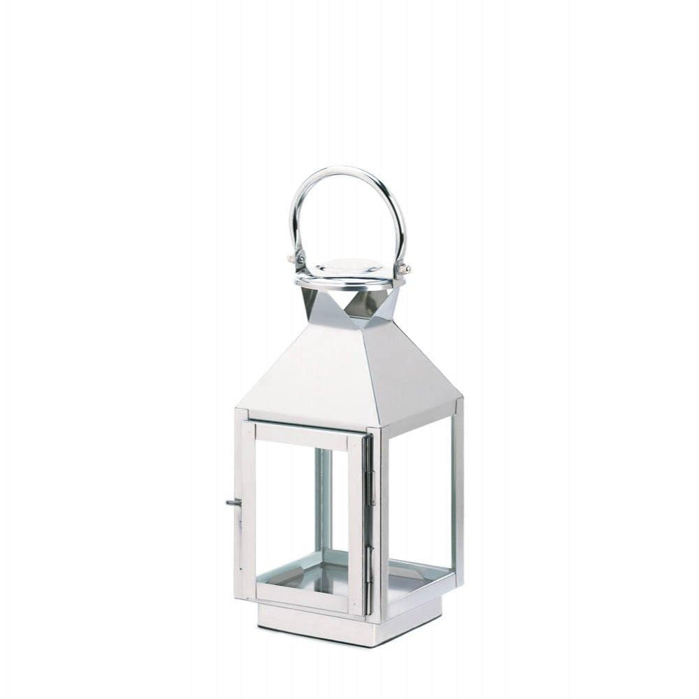 August Small Stainless Steel Candle Lantern - The House of Awareness